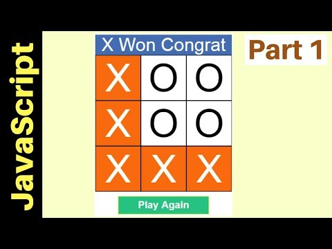 JavaScript - How To Make Tic Tac Toe Game In JS [ with source code ] Part 1/2