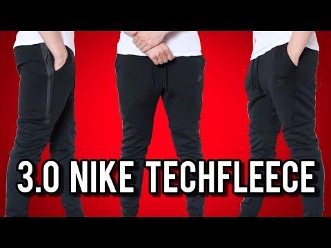 3.0 Black Nike Tech Fleece Jogger Pants Review + On Body