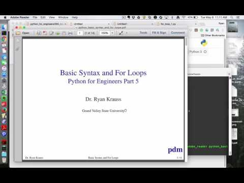 Python for Engineers Part 5: Basic Syntax and For Loops