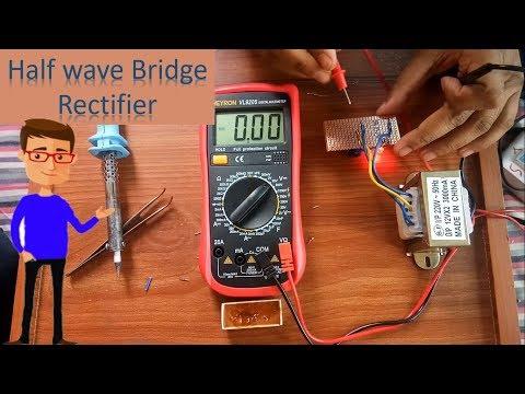 Half wave Bridge Rectifier | Half wave Rectifier By Earthbondhon