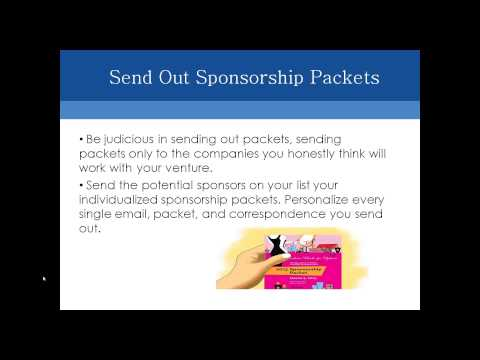 Succeeding with Corporate Sponsorships Webinar