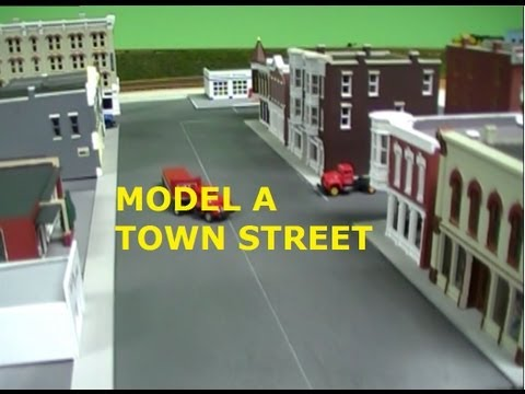 HOW TO MODEL A TOWN STREET