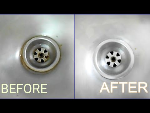 HOW TO CLEAN KITCHEN SINK EASILY || SINK CLEANING BY DIVYA
