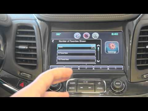 How to Operate the Pre-Set Favorite Buttons and Rename them on the Chevy MyLInk radio.