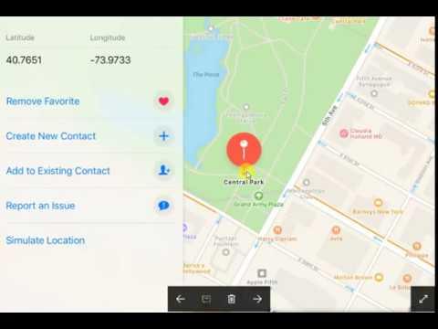 Simulate Location: com.apple.Maps.plist