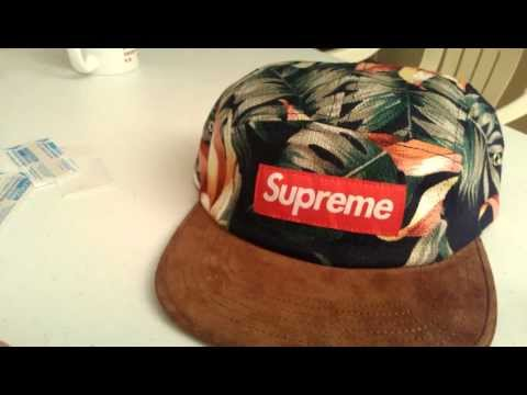 472b26fab73 Supreme Floral Suede Navy Camp Cap Review Spring Summer 2012 Red Box Logo