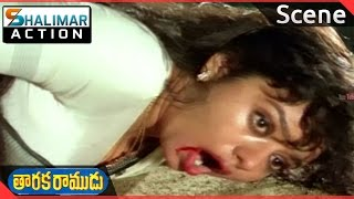 Taraka Ramudu Movie ||  Srikanth Saved  By Soundarya  Scene   || Shalimaraction