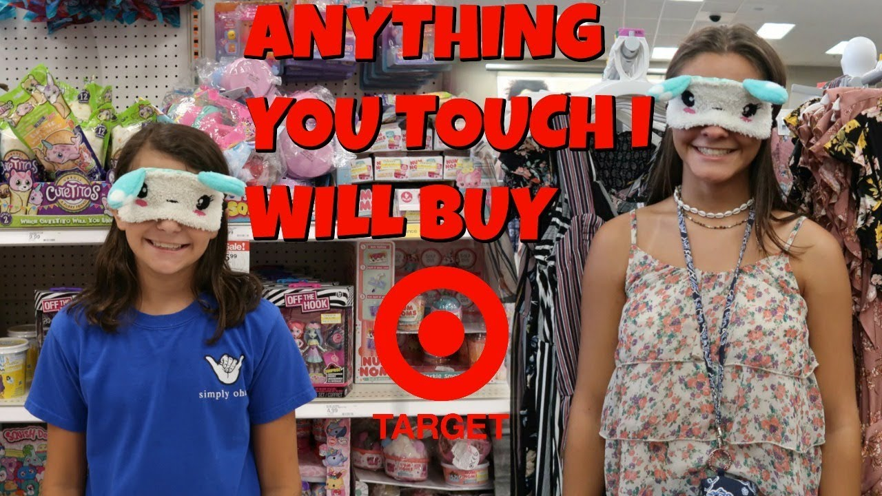 🙈Anything You TOUCH BLINDFOLDED I Will BUY For You at TARGET! 🎯 Emma and Ellie