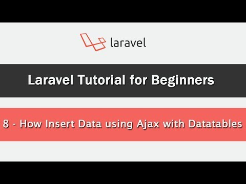 How to Insert Data using Ajax in Laravel with Datatables