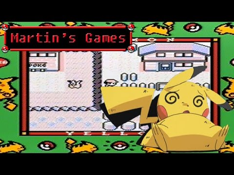 How to make Pikachu Crazy - Pokemon Yellow (GameBoy Game Play)