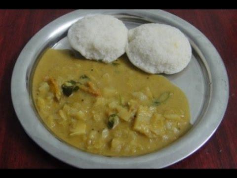Cabbage Kulambu In Tamil   முட்டைக்கோஸ் குழம்பு    Tiffen Kulambu In Tamil   Gowri Samayalarai