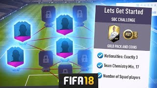 FIRST FIFA 18 SQUAD BUILDER CHALLENGES! - FIFA 18 Ultimate Team