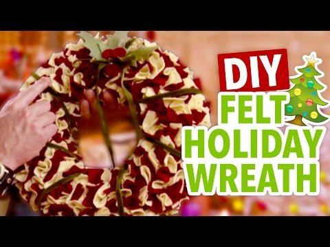 DIY Felt Christmas Wreath ~ Easy Holiday Craft - HGTV Handmade
