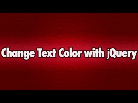 Click to Change Color with jQuery