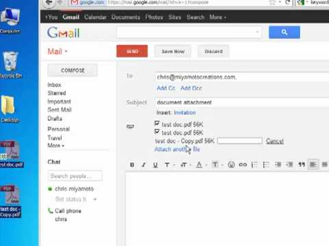 How To Attach And Send A Document With Gmail