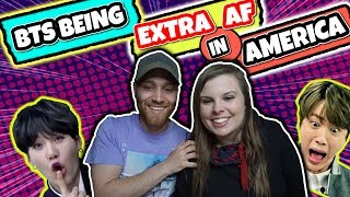 Download bts being extra af in america reaction Video