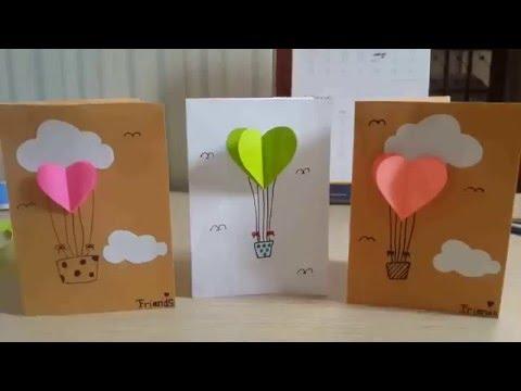 An air balloon card DIY by Stefanie best school in jember