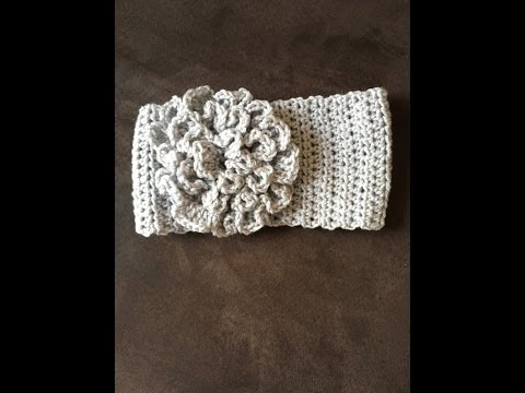video 1 of 2 how to crochet a headband with a flower