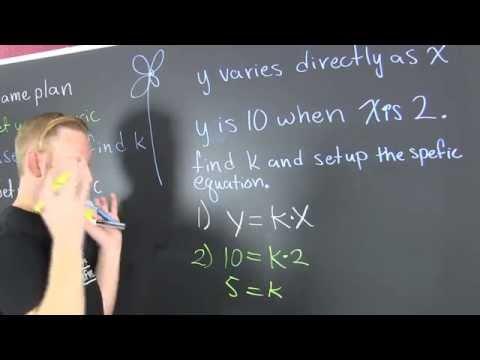 Find the Constant of Variation, k
