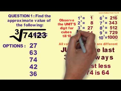Finding Cube root of Imperfect Cube in 5 seconds - IBPS Bank PO Clerk SBI SSC
