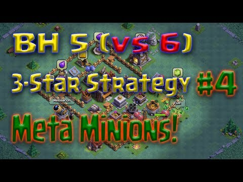 Clash of Clans - BH5 vs 6 3-star attack strategy - Meta Minions (Minions and Baby Dragons)