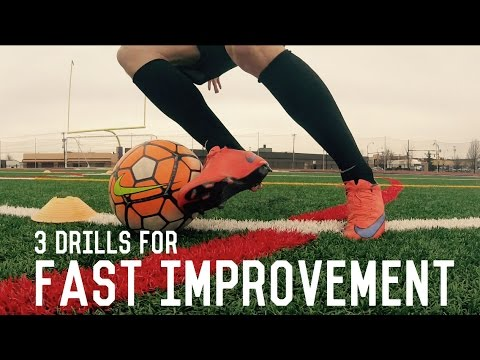 Top Three Football/Soccer Drills For Fast Improvement | Individual Training For Soccer Players