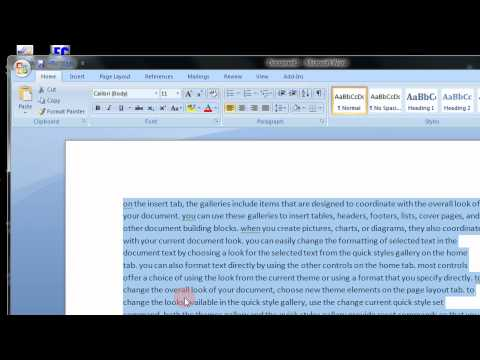 Change UPPERCASE text to lowercase in Mirosoft Word 2007 2010 A Step By Step Tutorial