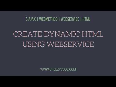 Create Html Table In JavaScript Using WebService Ajax Call