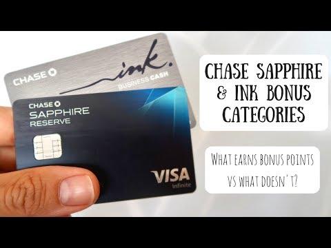 Chase Sapphire & Ink Bonus Categories | What Earns Bonus Points vs What Doesn't?
