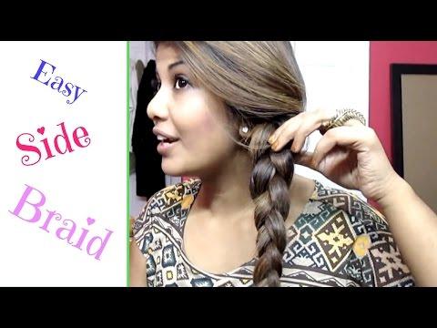 Easy Side French Braid ( Step By Step )