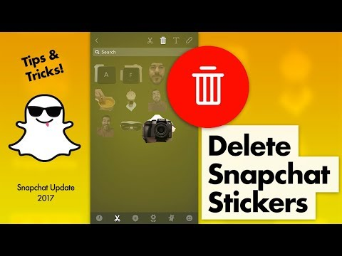 How to Delete Snapchat Stickers