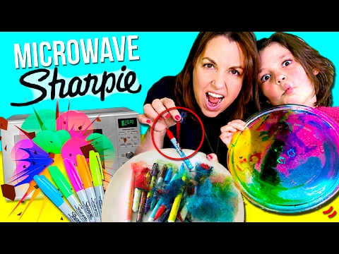 DON'T MICROWAVE SHARPIES! 💥  What HAPPENS when you MICROWAVE Sharpies? 🖍