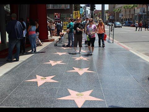 Walking on Hollywood Boulevard  4K