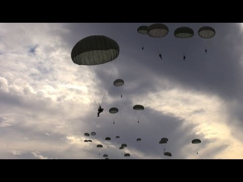 Inside the Army's 82nd Airborne Division: Parachuting from a C-130 Aircraft