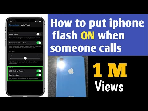 How to Set iPhone Camera LED to Flash on Incoming Calls and Alerts **By noufalclassic parappanangadi