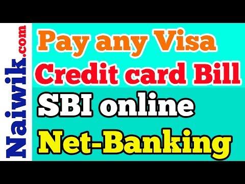 Pay any Visa Credit card Bill using SBI Online internet banking