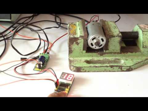 DC MOTOR SPEED CONTROLLER WITH PWM DUTY CYCLE DISPLAY 1% TO 99%