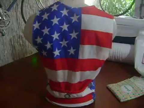 USA flag Triathlon Top Race, Swim, Run, Bike, Bikingthings