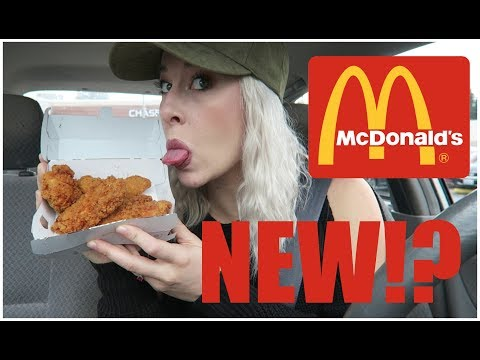 LIMITED EDITION McDonalds Buttermilk Chicken Tenders Taste Test and Review
