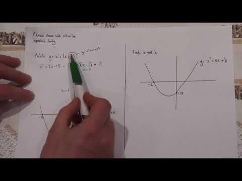 Daily Essential GCSE Maths Video: Guaranteeing a Grade 7: Video 1: quadratic graph sketching