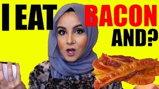 I ATE BACON FOR THE FIRST TIME!!♡   Amina Chebbi