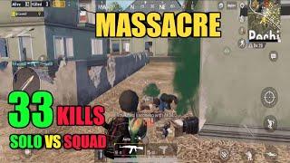Massacre In Pochinki | Solo Vs Squad 33 Kills | Pubg Mobile