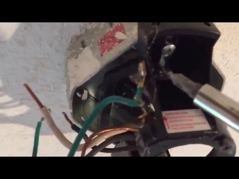 How to remove a ceiling fan.