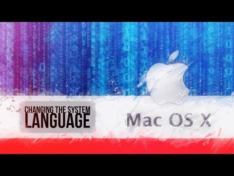 Mac OS X Change system language