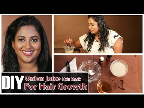 Onion Juice for Hair Loss, Regrowth - DIY Onion Juice Hair Mask