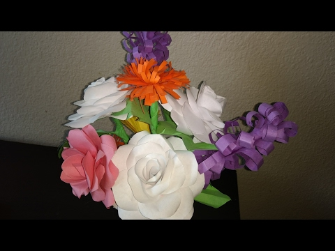 How to make paper flowers for vase or for bouquet