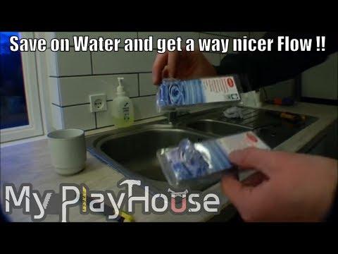 Arrive at playhouse, replacing low flow faucet aerator - 013