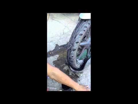Vulcanizing tubeless tire