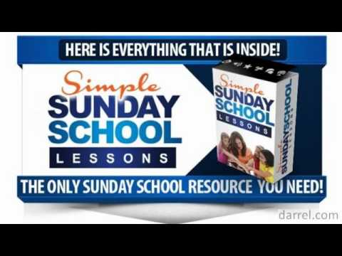 Sunday School Lesson Plans - For Home Schoolers and Teachers