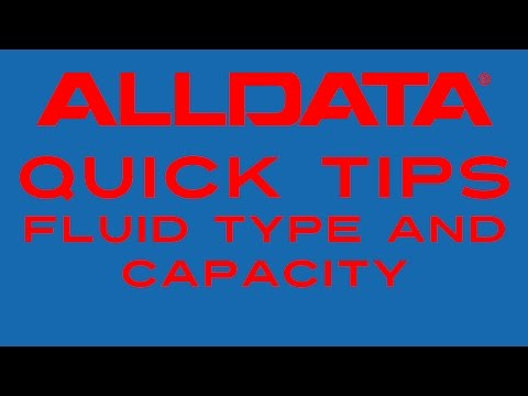 AllData Quick Tip - Find Fluid Type and Capacity
